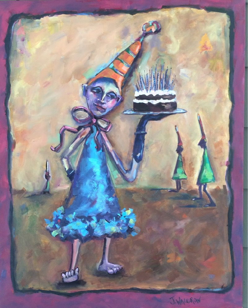 Black Glove with Cake - 24x30 - oil on canvas