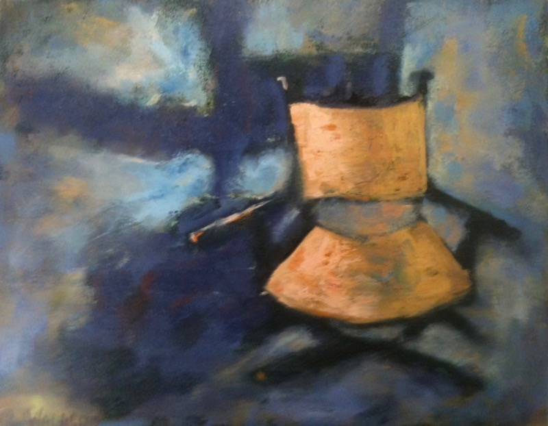 Little Orange Chair - 14x11 - oil on canvas
