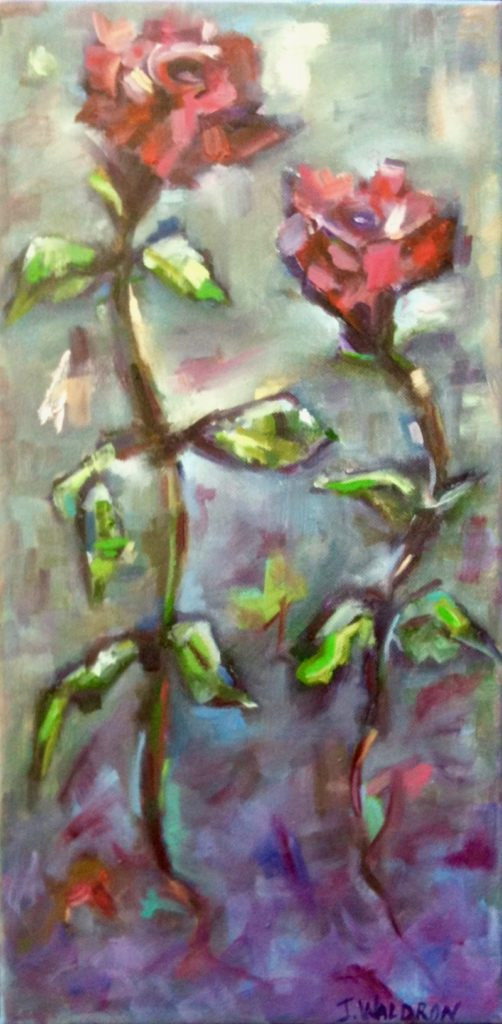 Love Buds - 10x20 - oil on canvas - SOLD