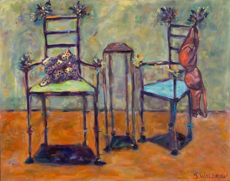 Party Chairs - 22x28 - oil on canvas - NFS