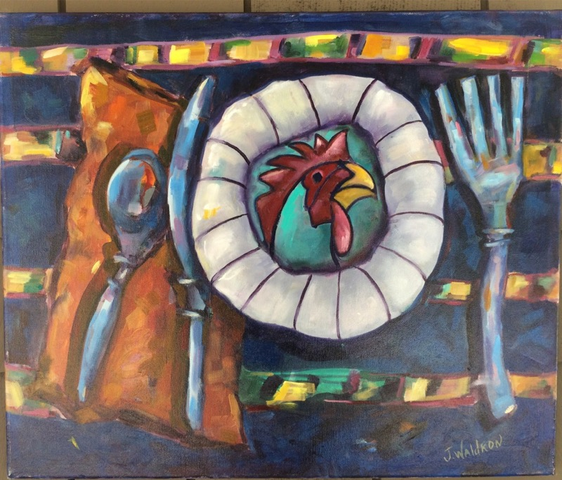 Rooster - 20x24 - oil on canvas