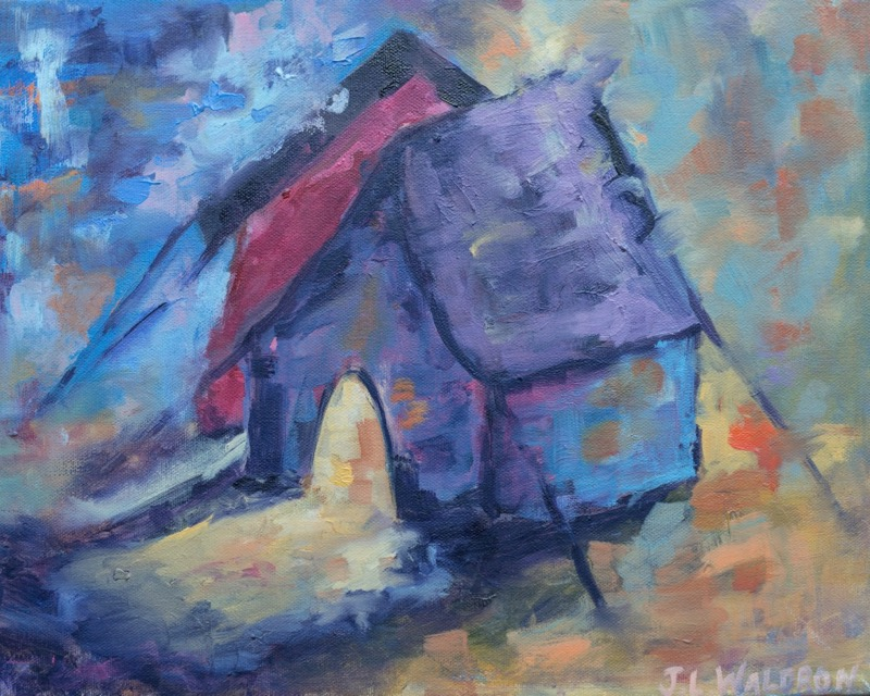 Small Tent - 14x11 - acrylic on canvas