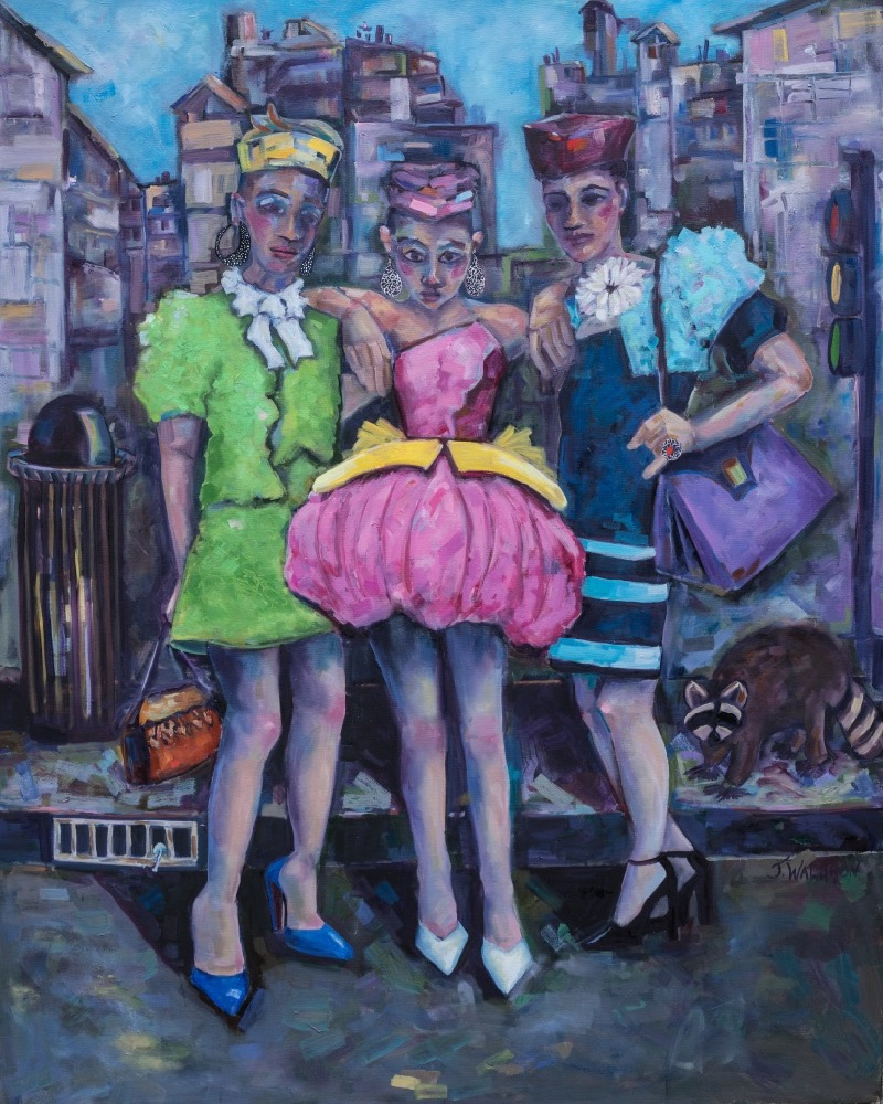 The Ladies - SOLD - 4'x5' - oil on canvas