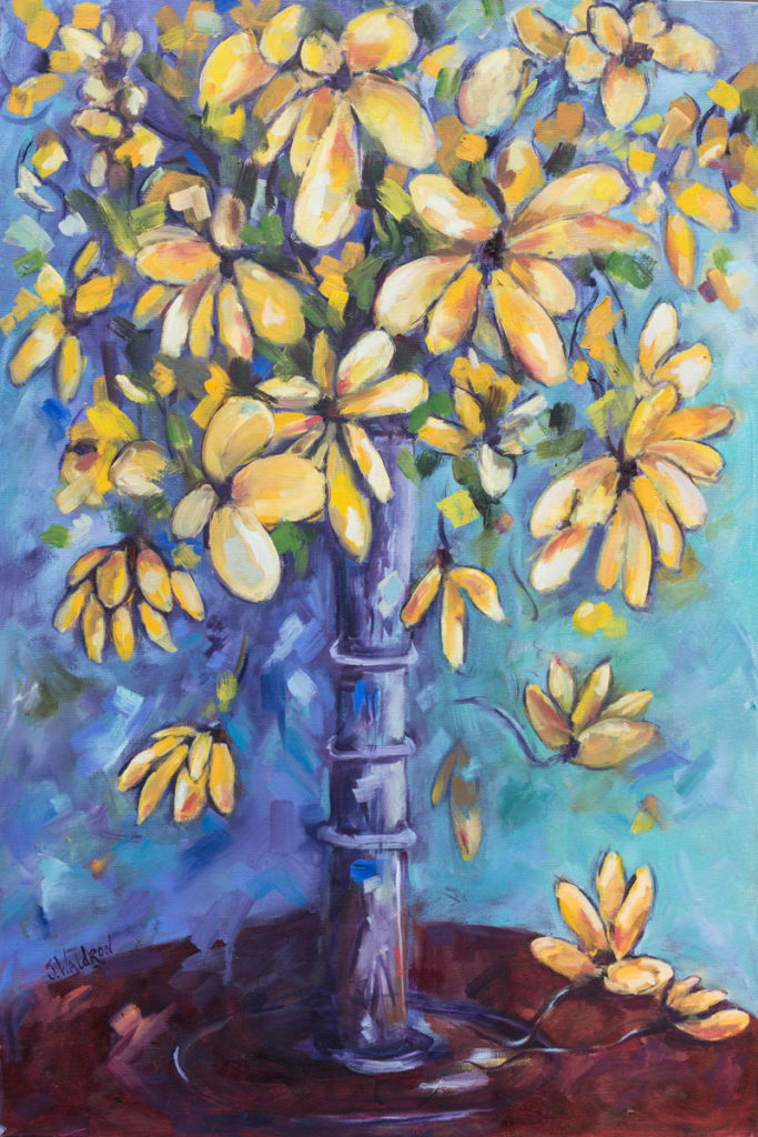 Yellow Flowers - 20x30 - oil on canvas - SOLD