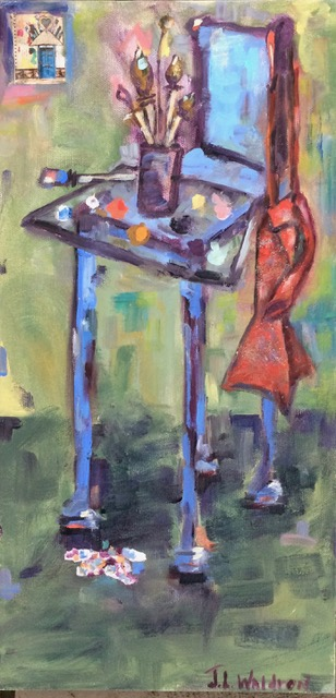 Art in the High Chair - 16x8 - oil on canvas - SOLD