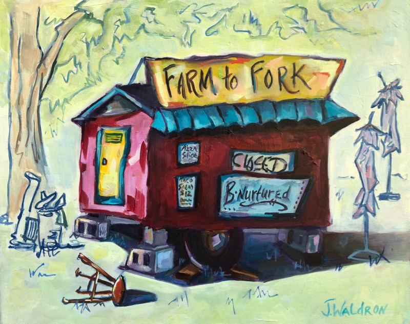 Farm tio Fork 16x20, oil $415