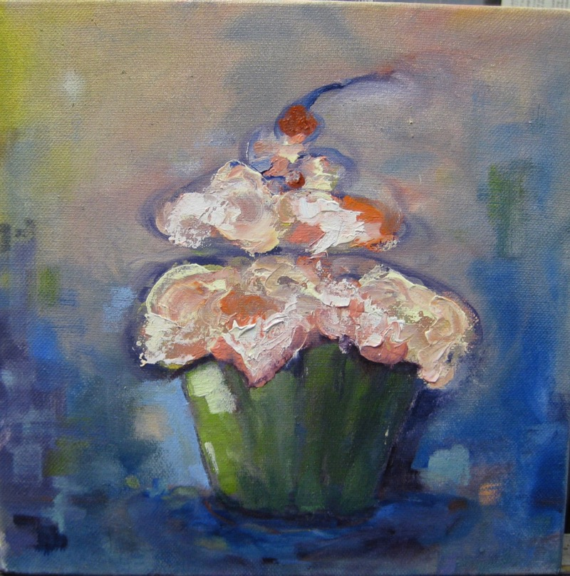 Cupcake - 8x8 - oil on canvas - SOLD