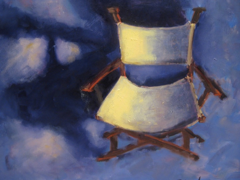 Lights, Camera, Action! - 16x20 - oil on canvas - Currently on Exhibit at Elanden Gardens