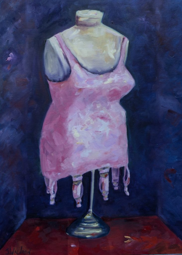 Pink Corset - 24x18 - oil on canvas