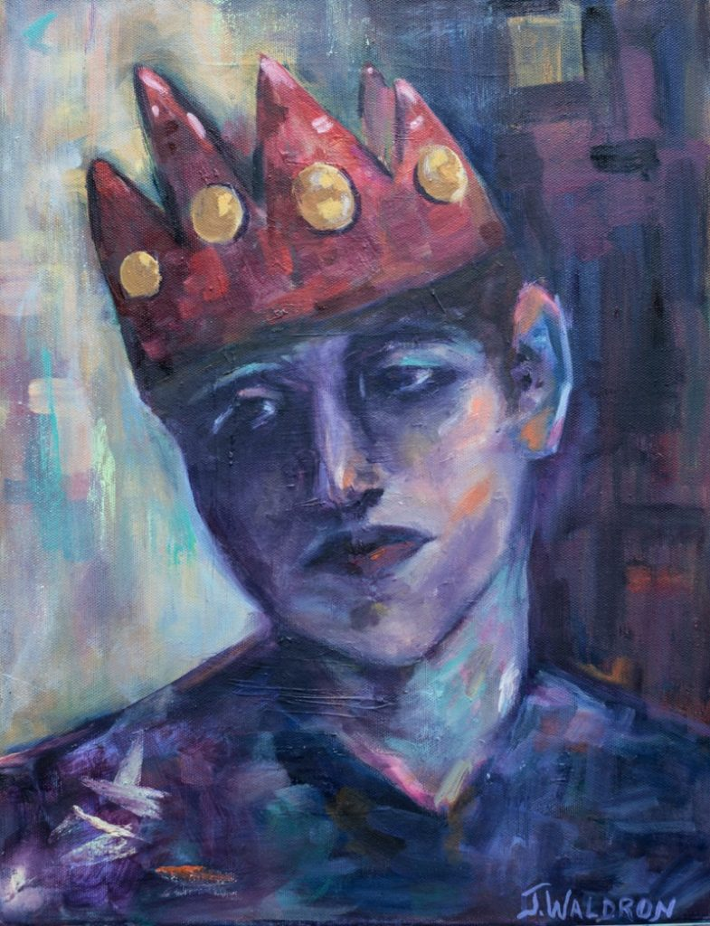 The Prince - 18x24 - oil on canvas - $310  Currently on Exhibit at Elanden Gardens