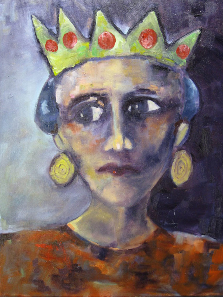The Queen - SOLD - 20x24 - oil on canvas