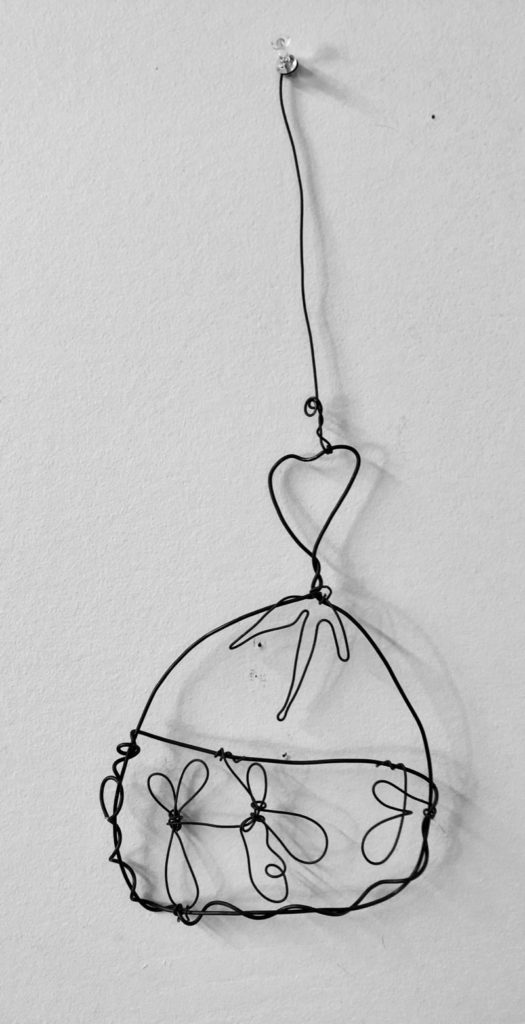 Wire dress hanging