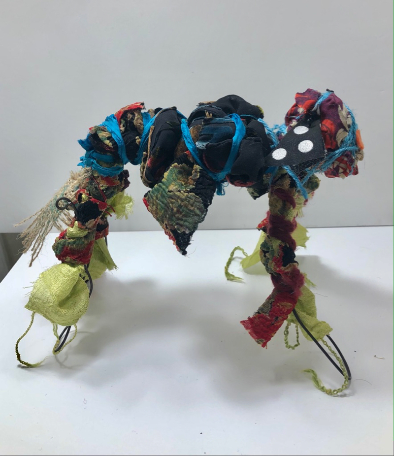 Wire Critter with polka dot ears